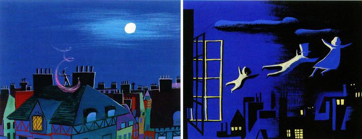 """Peter Pan"" by Mary Blair (for full post see: http://www.michaelspornanimation.com/splog/?p=2341)"