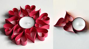 paper candle centerpiece