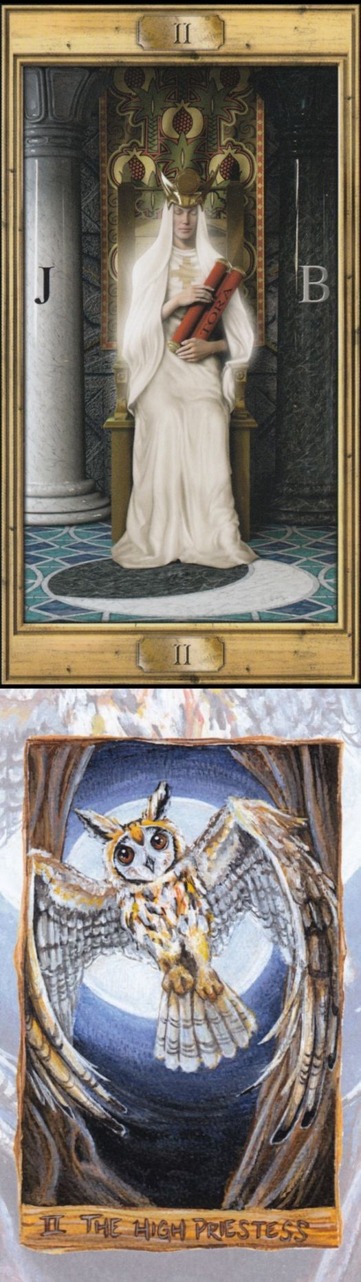THE HIGH PRIESTESS: intuition and repressed/unheard inner voice (reverse). Pictorial Tarot deck and Animisim Tarot deck: tarot in wonderland, free tarot reading predictions and most accurate tarot reading. Best 2017 cartomancy divination and witches.
