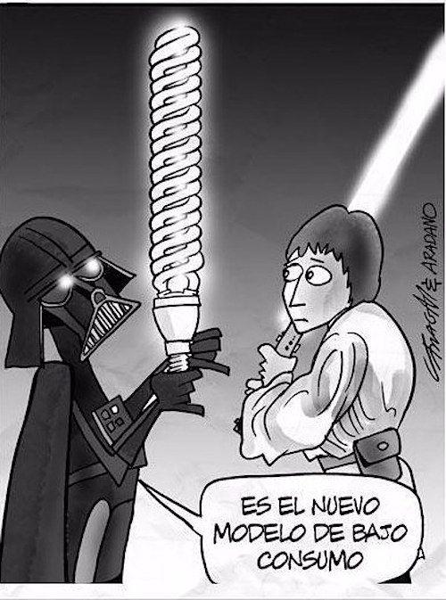 Darth Vader, preocupándose por el futuro del planeta desde los años 70. | 22 Chistes que solo los amantes de Star Wars entenderán