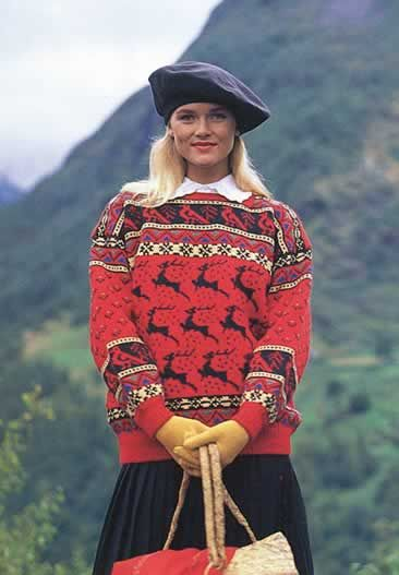 Playful Norwegian sweater