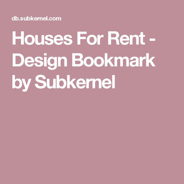 Houses For Rent - Design Bookmark by Subkernel