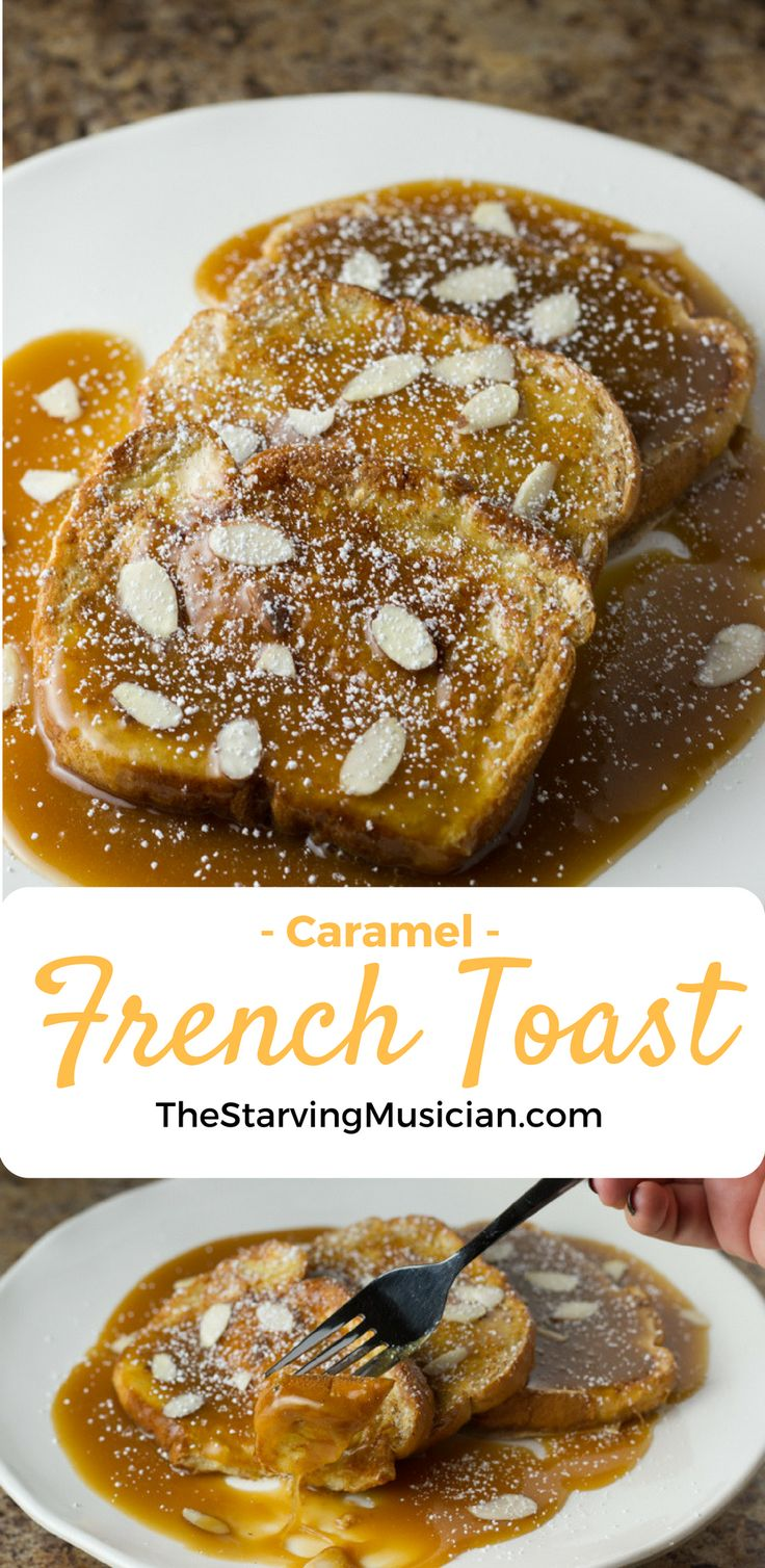 This quick and easy, decadently sweet french toast recipe has a thick caramel sauce that turns breakfast into a satisfying comfort meal.