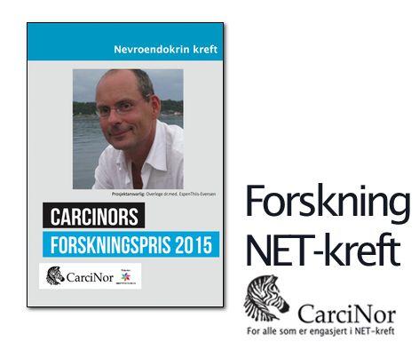 """Forskningspris 2015. CarciNor har tildelt forskningsprisen til overlege dr.med.EspenThiis-Evensen, Rikshospitalet. - """"Hvorfor vokser spredningssvulstene fra nevroendokrine tynntarmssvulster mye raskere enn primærtumor? http://www.carcinor.no/index.php/nyheter-og-nyhetsarkiv/468-carcinors-forskningspris-2015"""