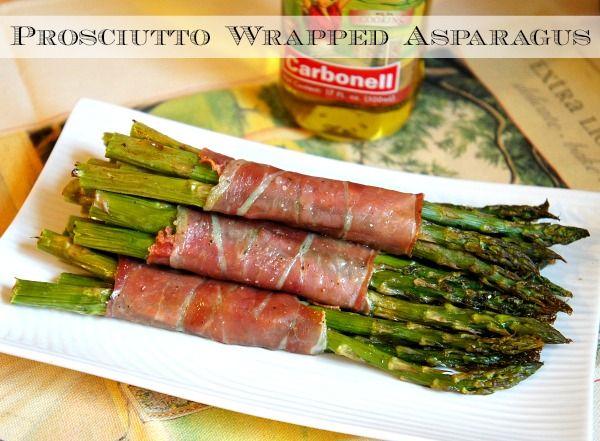 Prosciutto wrapped asparagus. YUM! #DaretoCarbonell #ad