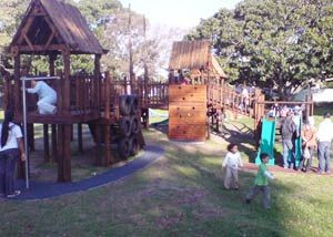 Maynardville Park. Lots of of great jungle gyms, slides and swing, also resistance excercise station. Feed the ducks and picnic under the trees. https://www.capetown.gov.za/en/parks/Pages/MaynardvillePark.aspx