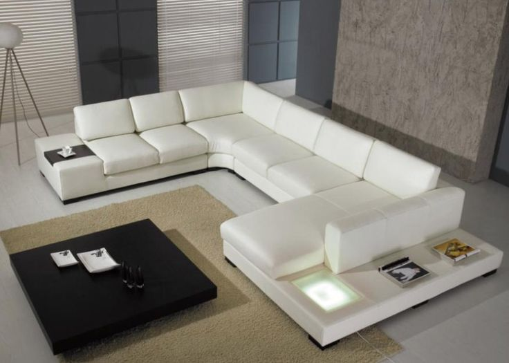 Sectional Sofas | Modern Leather Sectional Sofa – Opulent Items (this one looks cool but not leather or in the color white)