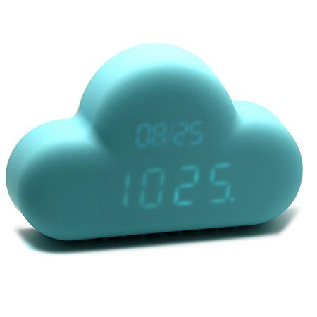 TRIXES Blauer Digital-Wecker in Wolkenform Cloud