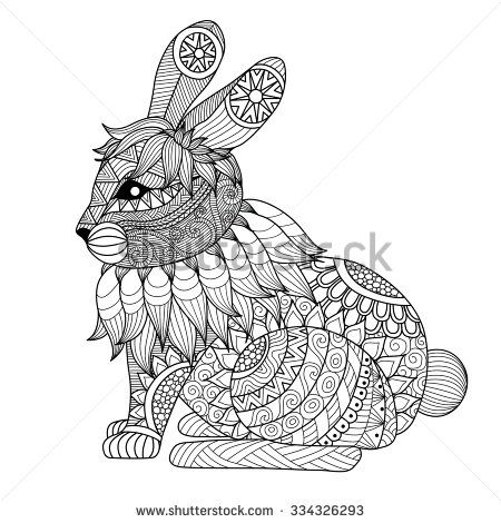 40 best Coloring Books for the Young at Heart images on Pinterest - copy coloring book pages of rabbits