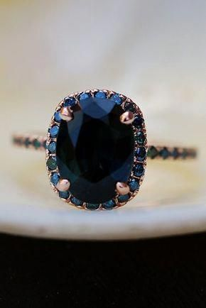 Eidel Precious engagement rings vintage oval cut sapphire gold #sapphirerings