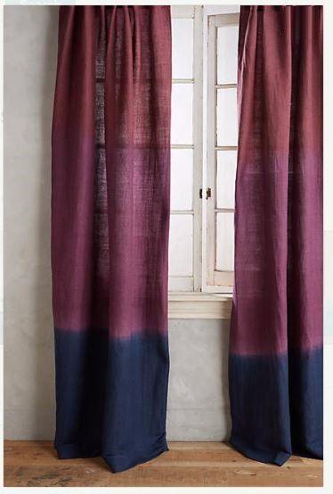 Tie Dye, die individuell Vorhänge-Burgund / schwarz gefärbte Kombination