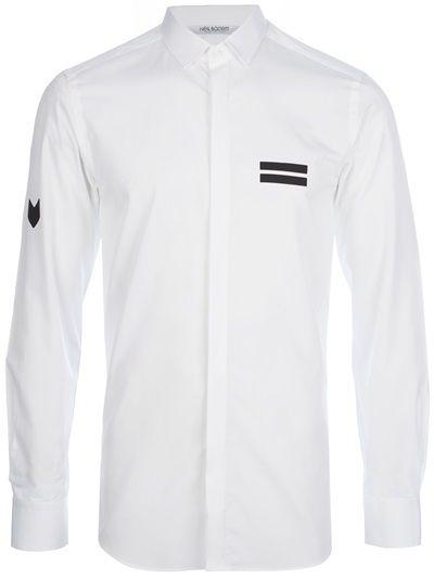 Neil barrett panelled button down shirt 6 mens fashion for Crisp white dress shirt