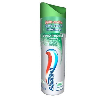 Aquafresh iso-active Deep Impact Toothpaste, 4.3-Ounce Tubes (Pack of 6)  Who else misses this?  I just emptied my last can and my teeth are so sad.