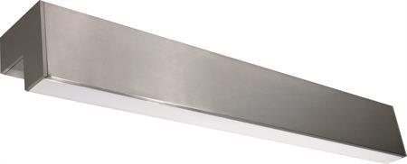 Seinävalaisin Leon LED 9W, Satiini, IP44    Seinävalaisin alumiinirungolla ja akryylimuovisella opaalikuvulla. Asennetaan esim. kylpyhuoneen peilin yläpuolelle.