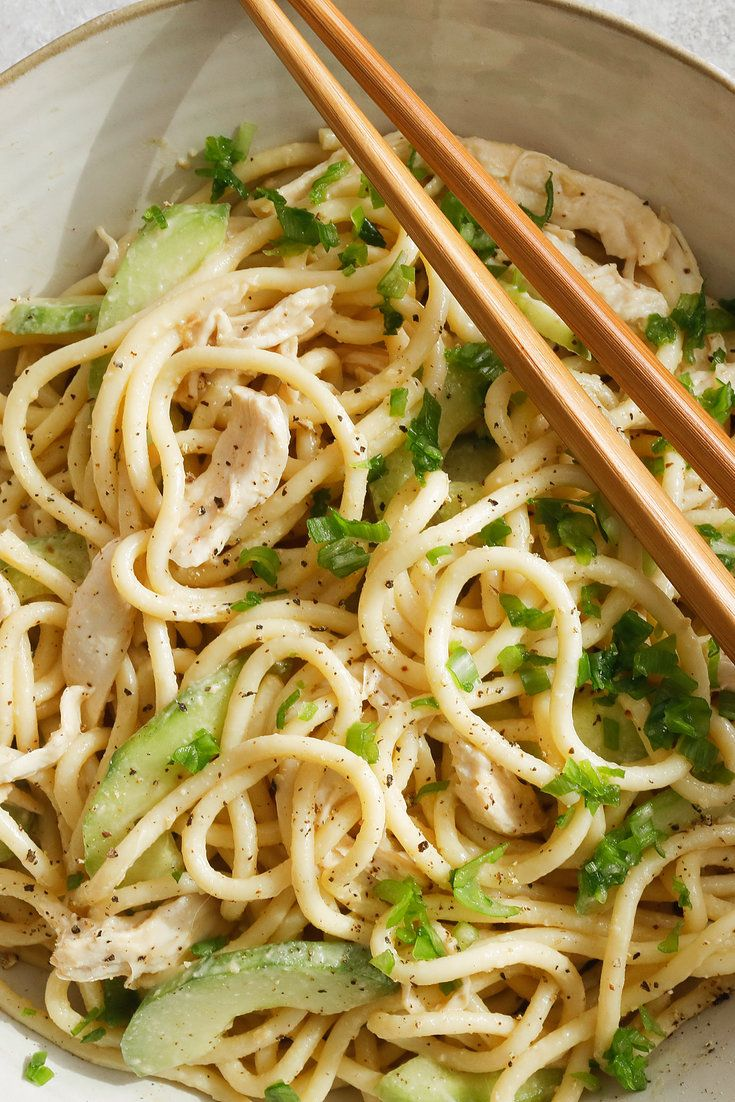 Cold Noodles With Sesame Sauce, Chicken And Cucumbers Recipe - NYT Cooking