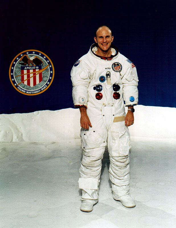 Apollo 16 Ken Mattingly poses for a portrait.