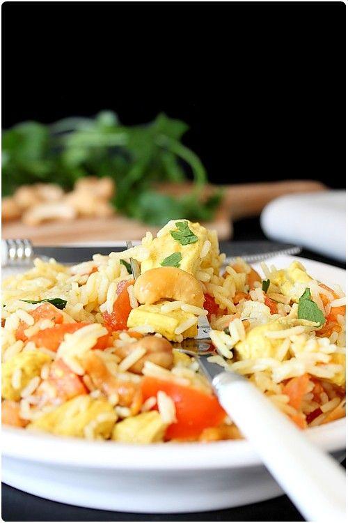 Salade de poulet à l'indienne sucré-salé