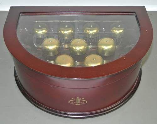Vintage music box golden label