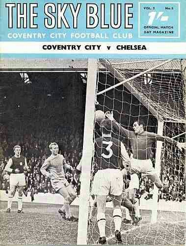 Coventry City 0 Chelsea 1 in Sept 1968 at Highfield Road. The programme cover #Div1