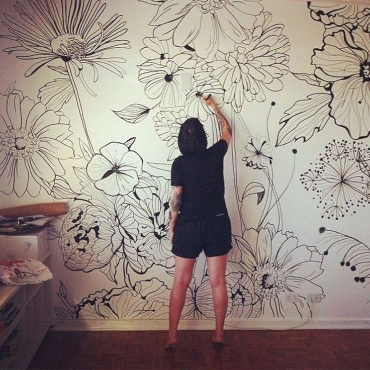 30+ Beautiful Flower Wall Decor Ideas For Creative Wall Decor Ideas  #beautiful …
