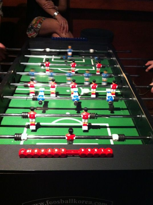 A popular spot for watching sports and enjoying reasonably priced pub food. Open late and attracts that kind of crowd. Good place for watching a match while playing foosball in between. Find more best places to watch the World Cup in South Korea: http://pin.it/D8V_a7c