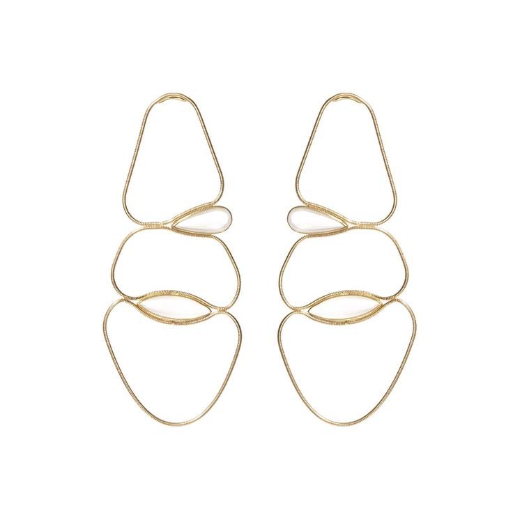 Fluid Chain Earrings by Fernando Jorge