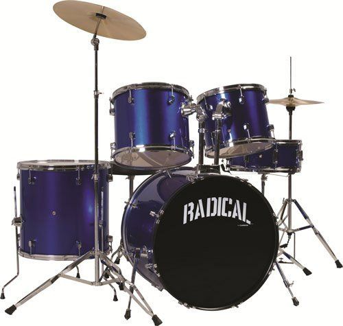 Cannon RAD5MB 4-Piece Drum Set by Cannon. $223.18. RADICAL 5 DrumSet MetallicBlue. Save 55% Off!