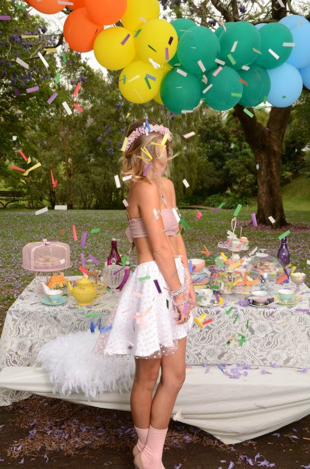 """""""Neverland by Tink"""" the label. Tea party fairytale inspired fist photoshoot in Grafton, NSW at Sea park filled with the blooming jacaranda trees. This label is handmade on the Gold Coast Australia. Shop online at www.neverlandbytink.com"""