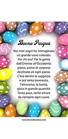 Buona Pasqua. I really wish my Uncle Joe was here to translate this for me. I miss him.