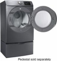 Samsung - 7.5 Cu. Ft. 11-Cycle Steam Gas Dryer - Platinum - AlternateView1 Zoom