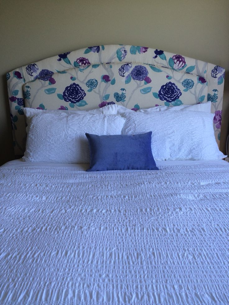Beautiful floral curved headboard