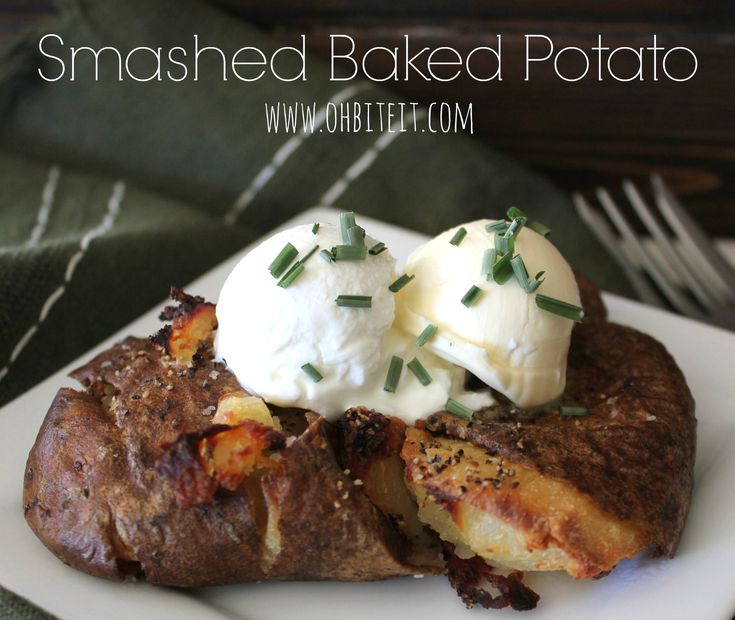 Smashed Baked Potato.....LOL.....like crispy hash browns on the outside and tender baked potato on the inside.........a leftover baked potato.....smash it with your hand a little....drizzle with olive oil....bake at 350 'til edges are golden and crispy......top it with whatever you want!! ;-)