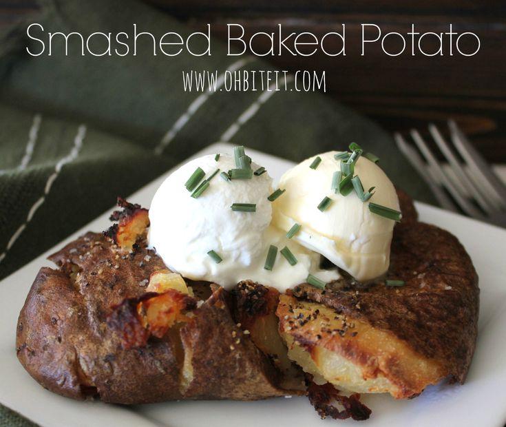 Oh Bite It - Smashed Baked Potatoes