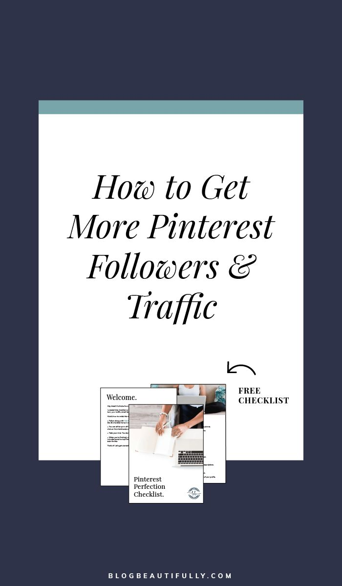 How to Get More Pinterest Followers & Traffic. Pinterest tips, blogging tips, traffic tips, grow following.