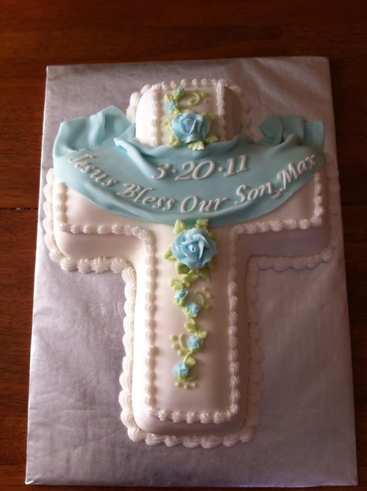 Blue cross cake. Sorry no link just inspiration.