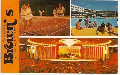 Browns Resort Hotel Loch Sheldrake NY 1982 Vintage ...