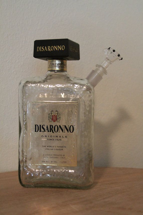 #Disaronno Liquor Bottle Water #Pipe bottlebubblers at gmail . com they're for sale!!!