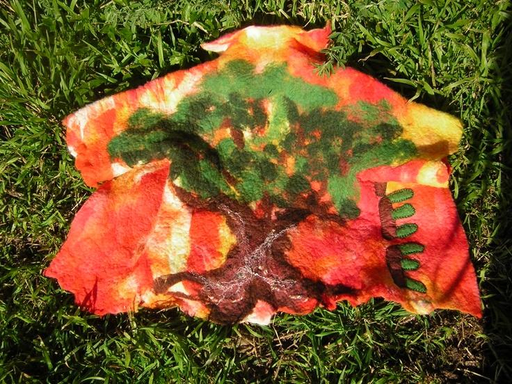 tree felted jacket