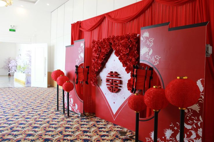 Decorate wall for reception area vietnamese wedding