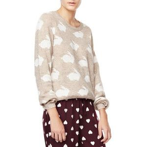 Rabbit pattern jersey - OYSHO
