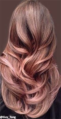 Rose gold hair! I want this rose-gold-hair-trend-2015