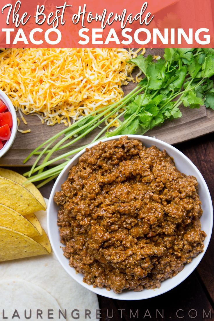 No need to bother with those taco seasoning packets. This homemade taco seasoning is so easy and so much better! via @iatllauren