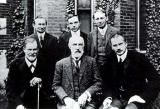 G. Stanley Hall Biography: Psychologist and educator G. Stanley Hall (bottom row, center).