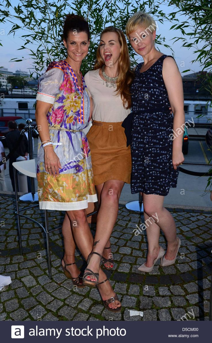 Marlene Lufen, Annika Kipp and Karen Heinrichs Sat.1 Summer BBQ (Sommergrillen) at Label house at Osthafen Berlin, Germany -