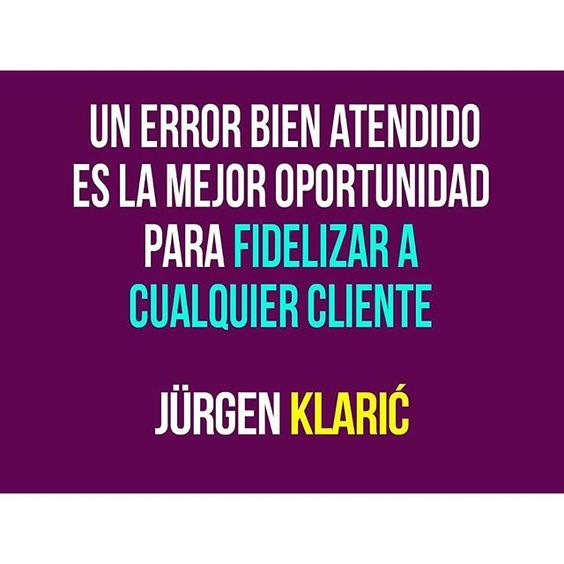 #Tips de #Marketing Un error bien atendido es una oportunidad de fidelizar clientes