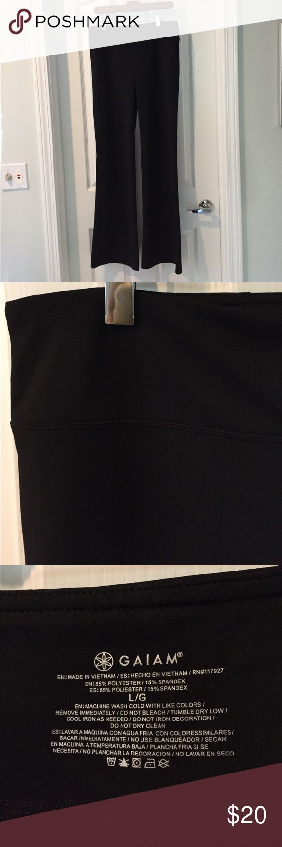 """Gaiam tall yoga pant Tall yoga pant, worn once. Approximate msmts: waist 15 1/2"""", inseam 31 1/2"""", rise 10 1/2"""".  Great pant for someone who is a bit taller than me. :) Gaiam Pants Track Pants & Joggers"""