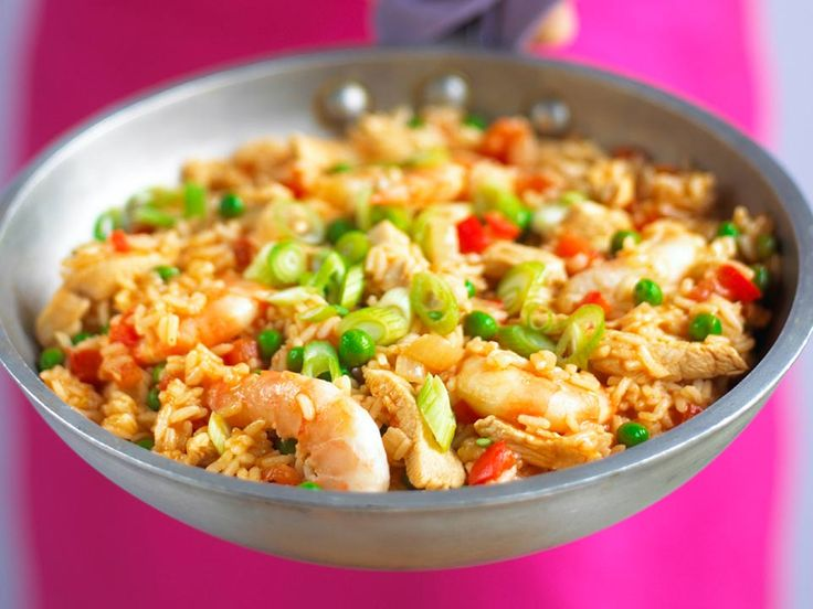 Add a rainbow to your paella with lots of different …
