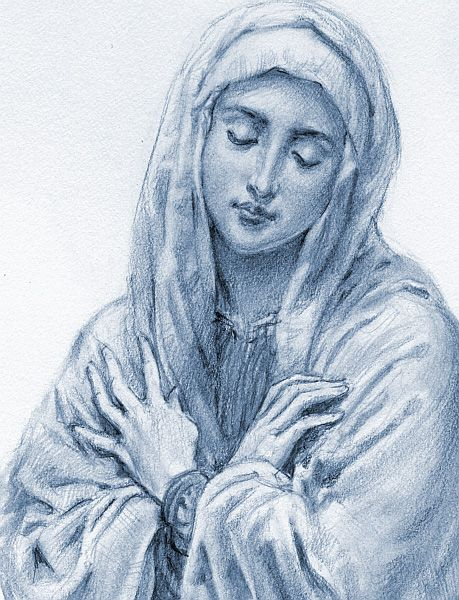 """""""Mary, give me your Heart: so beautiful, so pure, so immaculate; your Heart so full of love and humility that I may be able to receive Jesus in the Bread of Life and love Him as you love Him and serve Him in the distressing guise of the poor."""" - Mother Teresa"""
