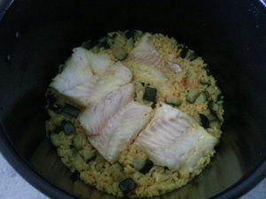 Cabillaud au riz et courgettes - version Cookeo -