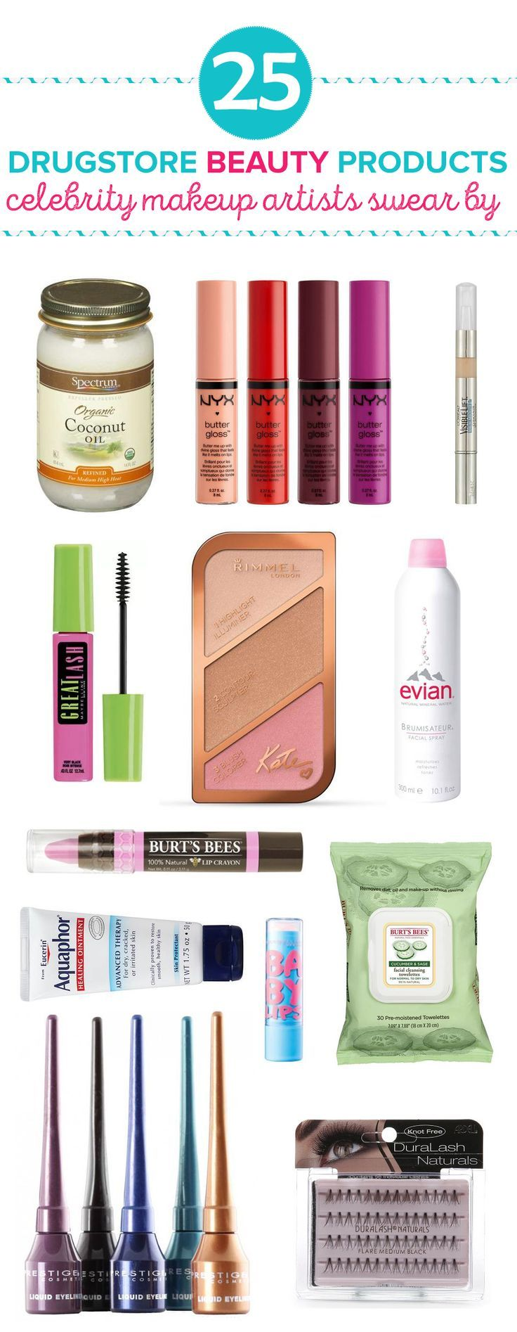 From makeup to skincare, these are 25 drugstore beauty products that celebrity makeup artists think really work. They're so affordable.